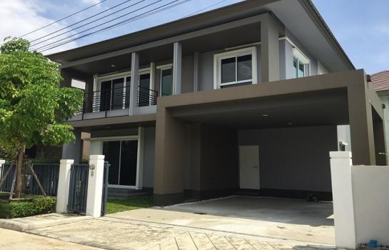 For RentHouseRattanathibet, Sanambinna : 2 storey detached house for rent, Chuan Chuen Grand Ratchapruek Rama 5 Village, next to Nakhon In Road, near MRT Tiwanon intersection
