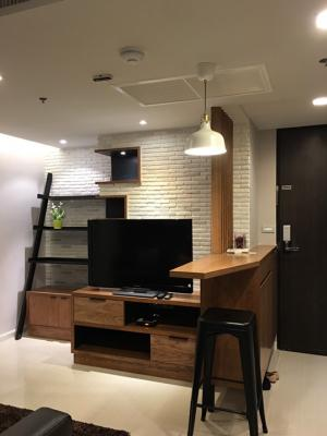 For RentCondoKasetsart, Ratchayothin : 🔥 Available for rent 🔥 Haus 23 MRT. Ladprao, large room 46 sqm., Built-in, high floor, complete electrical appliances 095-249-7892