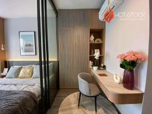 For SaleCondoRatchathewi,Phayathai : New Layout (with photo) - 1 bed 30.5 sqm - IDEO MOBI RANGNAM * Free Buit-in furniture - beautiful position, beautiful view, high floor peace garden view, best price, drop off, book now, hurry to decide