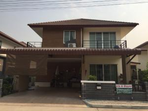For SaleHouseChiang Mai : 2 storey detached house for sale, very new condition Serene Park Village Sankampang - Chiang Mai is ready to move in.