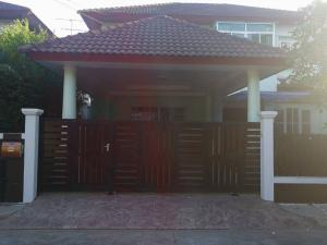 For RentHouseRamkhamhaeng,Min Buri, Romklao : Single house for rent Perfect Place Ramkhamhaeng Village 164, size 69 square meters - 3 bedrooms, 3 bathrooms, 1 working room, 1 living room