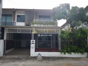 For RentHousePattanakan, Srinakarin : House for rent, Pruksa Ville Project 73, Soi Pattanakarn 44 - 2 floors, 3 bedrooms, fully furnished and electronic appliances.