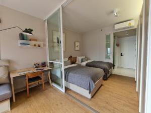 For RentCondoSiam Paragon ,Chulalongkorn,Samyan : New condo for rent, Triple Y residence, corner room, beautiful decoration, full like a sample room 🎆