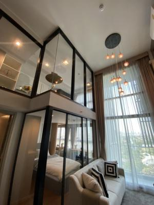 For SaleCondoRama9, RCA, Petchaburi : Urgent sale, dropped room, reserve 2 bedrooms, 2 floors, 52 sqm., Free part furniture and free transfer fee