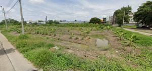 For SaleLandEakachai, Bang Bon : Land for sale on Ekkachai-Bang Bon road 12,800 sq.m. next to PTT station