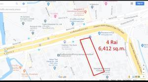For RentLandEakachai, Bang Bon : Land for rent (6,412 sq.m.) on Rama2 road, opposite Bangpakok 9 International hospital