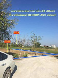 For SaleLandPattaya, Bangsaen, Chonburi : Land for sale in Nong Irun, Ban Bueng, Chonburi, area 1-2-1 rai (split 144 square wa