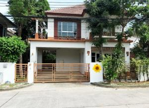 For RentHouseSamrong, Samut Prakan : 2-storey house for rent 62 sq m. With 4 bedrooms, 3 bathrooms, Bangna Ring Road, near Mega Bangna Rent 18,000 / month