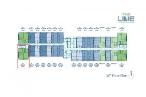 ขายคอนโดลาดพร้าว เซ็นทรัลลาดพร้าว : 2 ห้องนอน 58.75 ตรม ชั้น 25 ทิศใต้ The Line Phahonyothin Park (เจ้าของขายเอง)