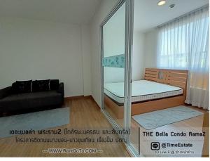For RentCondoRama 2, Bang Khun Thian : The Bella Rama 2 Bang Khun Thian, 2 air conditioners, near Nakornthon Hospital, Central Rama 2 for rent.