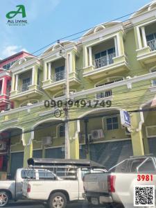 For RentShophouseRamkhamhaeng,Min Buri, Romklao : 3-storey townhouse, village Rungkit 14, Soi Rom Klao 38, suitable as a shop, office ready to move in.