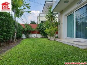 For SaleHouseRamkhamhaeng,Min Buri, Romklao : House for sale Baan Suan Suan - Suvarnabhumi Road, house on main road