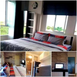 For RentCondoRangsit, Patumtani : Condo for rent, D Condo Campus Rangsit, corner room, phase 2