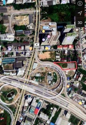 For SaleLandPattanakan, Srinakarin : Land for sale in Srinakarin. Feng Shui investment and get rich Beautiful land 2-2-55 rai
