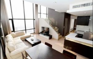 For RentCondoWongwianyai, Charoennakor : Condo Urbano Absolute Sathon - Taksin Duplex 3 bedrooms, BTS Saphan Taksin (300 meters)