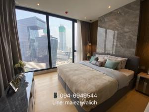 For RentCondoRama9, RCA, Petchaburi : For rent‼️NEW 2 bedrooms, corner unit, high floor, luxury condominium near MRT Rama9