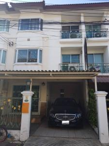 For RentTownhouseBangna, Lasalle, Bearing : Townhome for rent near BTS Bearing, Supalai Ville (Bearing 58), 3 floors, 3 bedrooms, 3 bathrooms, fully furnished, ready to move in.