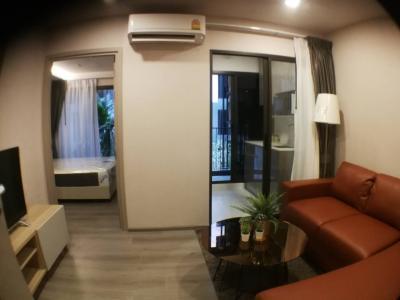 For SaleCondoRattanathibet, Sanambinna : Sale2.3/Rent10,000 The POLITAN BREEZE @ MRT Phra Nang Klao Bridge station 29.63sqm fully furnished , 1 bedroom 1 bathroom 1 Living room 1 Kitchen room 3th Floor.
