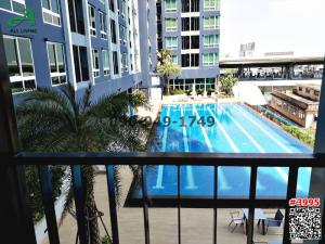 For RentCondoSamrong, Samut Prakan : Condo for rent The Metropolis Samrong Interchange, The Metropolis Samrong Interchange, beautiful room, pool view Ready to move in