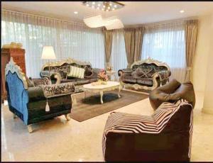 เช่าบ้านพระราม 5 ราชพฤกษ์ บางกรวย : Golden heritage villa Single house for rent 600 sqm 5beds 4baths 150,000 Baht per month