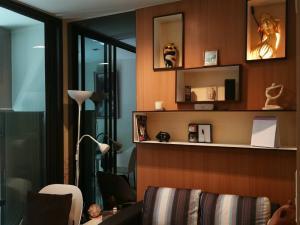 For RentCondoRama9, RCA, Petchaburi : Super cheap 🔥🔥🔥 **Special price 13,000 baht Condo for rent, Condo Life Asoke-Rama 9, size 32 sq.m., 8th floor, Building B, garden view, near MRT Rama 9 and Airport Link Makkasan.