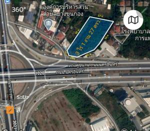 For SaleLandRama5, Ratchapruek, Bangkruai : Land for sale 3 rai 1 ngan 27 sq m. Nakhon In Road near Rama 5 roundabout