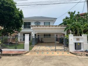 For SaleHouseRathburana, Suksawat : House for sale, Manthana Village, Soi Pracha Uthit 129, near Sarasas Witaed Suksa School, area 77.8 square wa, 4 bedrooms, 3 bathrooms, 1 working room.
