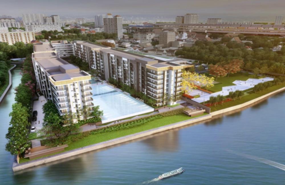 For SaleCondoRattanathibet, Sanambinna : คอนโดใหม่ริมแม่น้ำเจ้าพระยา ติดรถไฟฟ้าสายสีม่วง พระนั่งเกล้า ด้านหน้ามีตลาดอาหารต้นสัก ขายถูกกว่าโครงการ
