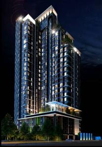 For RentCondoRatchadapisek, Huaikwang, Suttisan : Condo for rent, Centric Ratchada-Sutthisan, size 32 sq.m., 24th floor, the most beautiful view of the project. It's a corner room and it's //