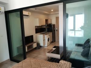 For RentCondoRattanathibet, Sanambinna : Knightsbridge Tiwanon, beautiful room, fully furnished. 26 sqm., only 9000 baht/month, near MRT Kor. Public Health, ready to move in