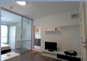 For RentCondoBangna, Lasalle, Bearing : Available 12/06/2564 Condo for rent, D Condo Sukhumvit 109, separate bedroom, near BTS Bearing