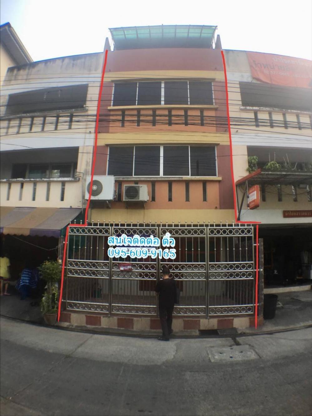 For SaleShophouseRangsit, Patumtani : 4-storey commercial building for sale, Rangsit-Nakhon Nayok, Khlong 5, Soi Phanthong Village, 21 square wah, Thanyaburi, Pathum Thani