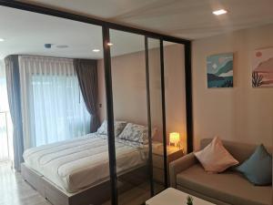 เช่าคอนโดรังสิต ธรรมศาสตร์ ปทุม : [Ready to move in] คอนโด Kave Town Space 1 Bedroom Extra กว้างพิเศษ ขนาด 29.36 ตร.ม.  วิวสวน ชั้น 7 ทิศใต้