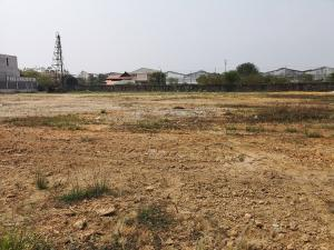 For RentLandSamrong, Samut Prakan : Land for rent, then 20,000 baht per rai (remaining 2 rai) in the middle of the alley, the entrance to Passorn Thepharak Village - Bangna. (Urgent, promotional price)