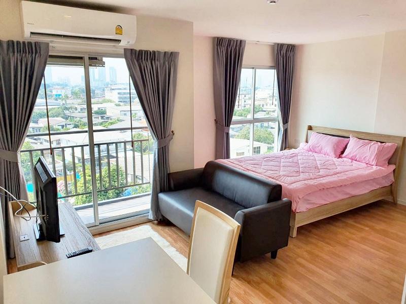For RentCondoOnnut, Udomsuk : PN Ville Sukhumvit 101/1 brand new with fully furnished + nice city view (near BTS Punnawithi, True Digital Park, Wachirathamsathit School)