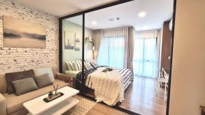 For RentCondoRangsit, Patumtani : [Ready for rent] New room, beautiful decoration, Kave Town Space 1 Bedroom Condo (1 bedroom, 1 bathroom, size 24.37 sq m), 2nd floor, Building C, north