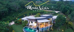 For SaleHouseKorat KhaoYai Pak Chong : 2 storey luxury house for sale on the foot of the hill, very beautiful view, with a private swimming pool. Currently open as a resort, near Khao Yai called Monte Vista, interested in buying more, have land for sale too, same view, affordable price.
