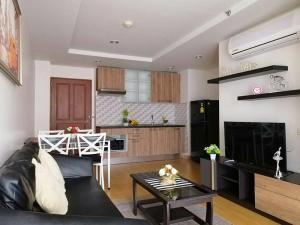 For RentCondoRama3 (Riverside),Satupadit : Condo Resorta Yen-akat @Central Rama III, 42 sq.m 1 Bedroom 3rd floor Corner Unit, Fully furnished