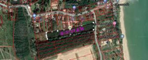 For SaleLandChumphon : Land for sale 8-3-77.6 rai next to the highway Nong Bua - Don Khae. Near the beach Ban Nong Bua, Chumphon