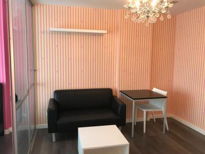 For SaleCondoBangna, Lasalle, Bearing : The owner sells himself, D Condo Campus Resort Bangna, fully furnished room, ready to move in, sell at an affordable price.