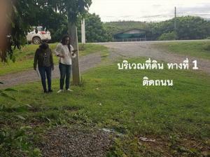 For SaleLandLamphun : Land for sale on the main road near the Li River, Chiang Mai, Lamphun, Lampang (Highway 106).