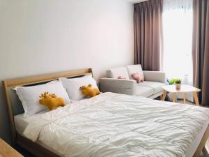 เช่าคอนโดลาดพร้าว เซ็นทรัลลาดพร้าว : 🎉 ให้เช่าคอนโดห้องใหม่ Life ladprao ตึก A ชั้น 18 ตกแต่งสไตล์มินิมอล พร้อมอยู่ สตูดิโอ 28 ตรม.