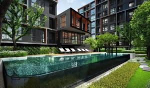For SaleCondoBangna, Lasalle, Bearing : Urgent sale, The Excel Groove Lasalle 52 condo, size 25.57 sqm., Building A, garden view, 3rd floor, corner room