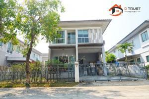 For SaleHouseSamrong, Samut Prakan : House for sale Villa Nova Village, Thepharak, Klong Khut, area 50.6 sq.wa., good location, on the main road