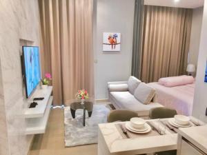 ขายคอนโดพระราม 9 เพชรบุรีตัดใหม่ : 1นอน fully Furnished ห้องใหม่เพิ่งแต่งเสร็จ