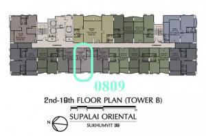 ขายคอนโดสุขุมวิท อโศก ทองหล่อ : ✨✨ขายด่วน!! ถูก Supalai Oriental Sukhumvit 39 1 Bedroom  39 ตร.ม. ห้องใหม่ ไม่เคยอยู่ ราคาเพียง 5.2 ลบ. ใกล้ BTS พร้อมพงษ์ พร้อมโอน ✨✨