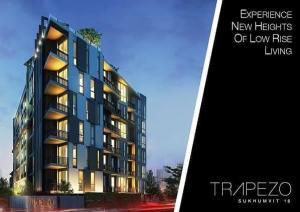 ขายคอนโดสุขุมวิท อโศก ทองหล่อ : ตึกปล่อยเช่าที่น่าสนใจลงทุนในซอยสุขุมวิท 16 (BTS พร้อมพงษ์, MRT ศูนย์สิริกิติ์) : The Trapezo