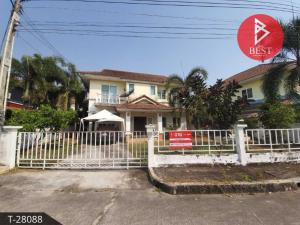 For SaleHouseRayong : 2 storey detached house for sale, Hat Phayun Village, Green Ville, Ban Chang, Rayong