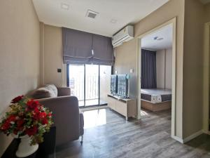 For RentCondoRatchadapisek, Huaikwang, Suttisan : [Rented] Condo Brown Condo Ratchada-Huay Kwang, new room, good location, next to MRT, 1 bedroom, 8th floor, city view, east, fully furnished, size 23. 06 sq.m.