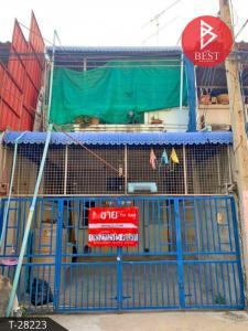 For SaleTownhouseSamut Songkhram : Urgent sale, 2-storey townhouse, near Mae Klong market, area 21 sq m.